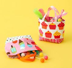 Small treat totes from Happy Zombie.  A bazillion combos for every holiday.