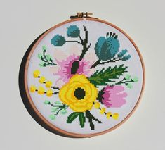 This item is unavailable Cross Stitch Embroidery, Embroidery Patterns, Cross Stitch Patterns, Floral Bouquets, Peonies, Roses, Unique Jewelry, Handmade Gifts, Patterns