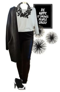 """Plus Size Fashion, Curvy Fashion """"Be happy in GRAND STYLES by Miriam Jezek"""" by miriam-jezek on Polyvore featuring Mode, Americanflat, Kenneth Jay Lane, Kat Maconie und modern"""