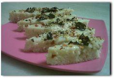 Quinoa and barley dhokla. The alternate grain recipe search continues! Gujarati Food, Gujarati Recipes, Indian Food Recipes, Ethnic Recipes, Snacks Recipes, Rice Recipes, Vegetarian Recipes, Healthy Foods, Healthy Eating