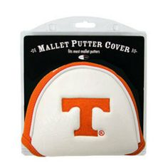 NCAA Tennessee Mallet Putter Cover by Team Golf. $3.99. Velcro closure. Fits most mallet putters. Made with Buffalo Vinyl and Polyester Knit. 2 location embroidery includes both logo and wordmark. Easily slips on and off the putter. Protect your putter while supporting your favorite collegiate team with this officially licensed NCAA® mallet putter cover from Team Golf. The cover fits most mallet putters and includes a fleece lining for extra club protection. A stro...