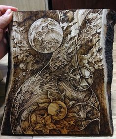 pyrography(wood burning) on zelkova