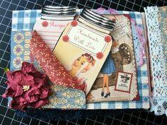 ILuvVintageScrap: Domestic Goddess Recipe Mini Album & Box