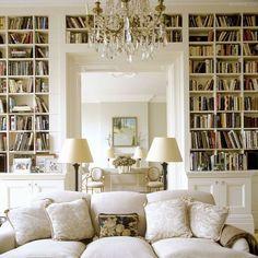 Cozy white private library