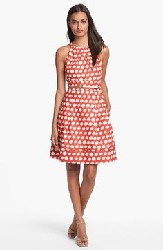 Eliza J Belted A-Line Dress available at #Nordstrom
