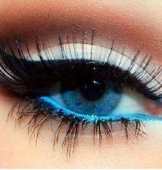 Nice eye color and makeup