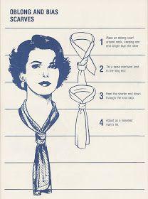 Nouer un long foulard style vintage