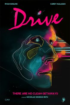 Movie Poster Art Print  DRIVE by CiaranMonaghan on Etsy, $50.00