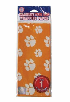Clemson Tigers Gift Wrap