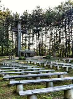 Outdoor chapel at Lutherlyn Camp in Pennsylvania