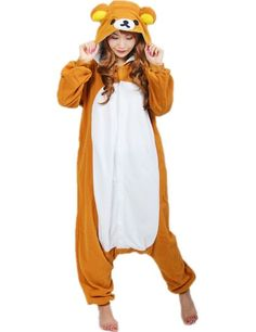 this is a cute kawaii bear onesie for teens. super adorable and comfortable. Pijamas Onesie, Onesie Pajamas, Cute Pajamas, Pyjamas, Halloween Onesie, Halloween Costumes For Teens, Lazy Day Outfits, Fall Outfits, Fashion Outfits