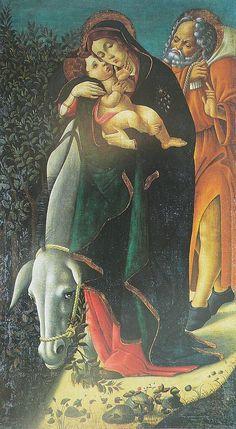 SANDRO BOTTICELLI ( 1445 - 1510) | The flight into Egypt.