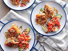 These sticky, saucy chicken thighs are perfectly paired with any grilled zucchini sides (shown here with chopped tomato-basil salsa). You...