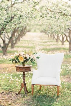 Apple Orchard Spring wedding inspiration. Source: Wedding Sparrow co.uk #weddingdecor #springwedding
