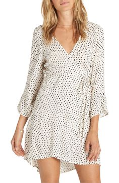 Main Image - Billabong Wrap It Up Print Wrap Dress