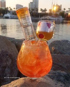 SEX ON LONG BEACH 1 1/2 oz. (45 ml) Grand Marnier No. 2 Raspberry Peach Liqueur 1 1/2 oz. (45 ml) Ciroc Peach Vodka  Equal Parts: Cranberry & Pineapple Juice  Instagram photo credit: @calimixers  Post your original recipe and photo on Instagram using #TipsyBartender and we will repost the best ones. Each month, the pics with most likes wins $300, 2nd Place $200, 3rd Place: $100.  #alcohol #fun #party #bar #club #drinks #vodka #yummy #peach