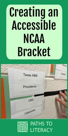 Create an accessible NCAA bracket in braille!