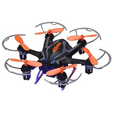 Floureon Yizhan RC Quadcopter Drone 2.4G 4CH 6-Axis Gyro 3D Rollover One Key Return Strong Power LED Lights CF Mode Automatic Return RTF USB Charging with HD 2.0MP HD Camera ,iDrone i6s Black