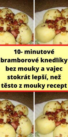 Potato Recipes, Vegan Recipes, Cooking Recipes, Czech Recipes, Ethnic Recipes, Gnocchi, Dumplings, Baked Potato, Food Porn