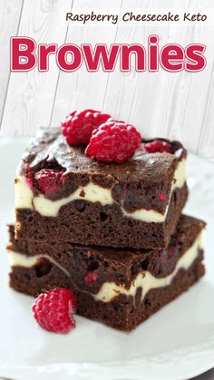"""These keto raspberry brownies are the PERFECT low-carb dessert! I just love the swirled tops and the fudgy keto brownie paired with the tart raspberry cheesecake is a match made in heaven."" Raspberry Cheesecake Keto Brownies - You must try this recipe. Keto Brownies, Cheesecake Brownies, Brownie Cake, Low Carb Cheesecake, Raspberry Cheesecake, Raspberry Brownies, Keto Cookies, Low Carb Desserts, Low Carb Recipes"