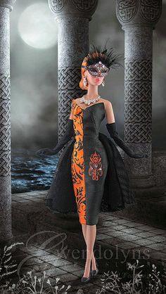 Orange scroll | by Gwendolyns Treasures
