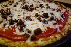 MY HCG DIET RECIPES: HCG DIET Phase 3 (P3) RECIPE #12: CAULIFLOWER CRUST PIZZA