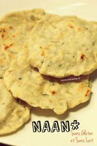 Recette Naan (pain Indien) sans gluten et sans lait
