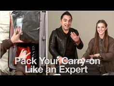 Packing - interesting take on packing a carry on bag using folding technique and ziploc bags to compress items.