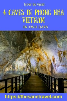 Phong Nha-Ke Bang National Park in Vietnam is home to many caves, with total explored length about 200 km.  Here is how to visit the four beautiful caves in two days. #Vietnam #travel #outdoors #caves #travelblog #phongnha