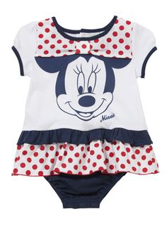 Disney Minnie Mouse Frill Romper from Clothing at Tesco
