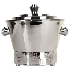 Art Deco Skyscraper Punch Bowl Champagne Bucket  | From a unique collection of antique and modern barware at http://www.1stdibs.com/furniture/dining-entertaining/barware/