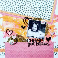 Imaginarium Designs: Chase Your Dreams layout by Amanda Baldwin featuring Cocoa Vanilla Studio : Colour Me Happy Collection