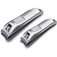 Chimocee Nail Clippers, 2PCS Professional Sharpest Stainless Steel Fingernail and Toenail Clippers,Heavy Duty Big Nail Clippers Set for Men  #ToolsAccessories