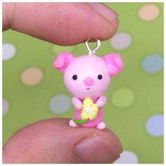 Polymer clay piglet https://www.etsy.com/listing/469197032/handmade-polymer-clay-piglet-charm