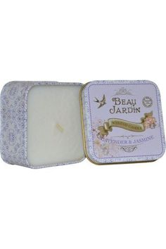 Beau Jardin by Heathcote and Ivory Scented Candle 100g Lavender & Jasmine