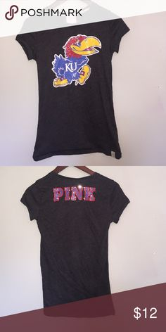 PINK KU shirt In great condition! Only worn twice! PINK Victoria's Secret Tops Tees - Short Sleeve