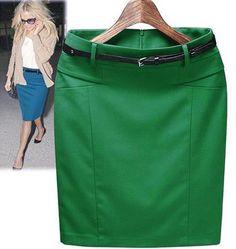 Summer slim hip casual pencil skirt