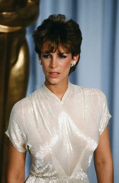 Actress Jamie Lee Curtis poses backstage during the Academy Awards at Dorothy Chandler Pavilion Los Angeles California Jamie Lee Curtis Young, James Pickens Jr, Christine Lahti, Dustin Lance, Christopher Guest, James Lee, Lance Black, Abc Photo, Kim Basinger