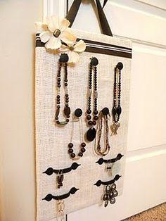 Drawer pull jewelry holder.
