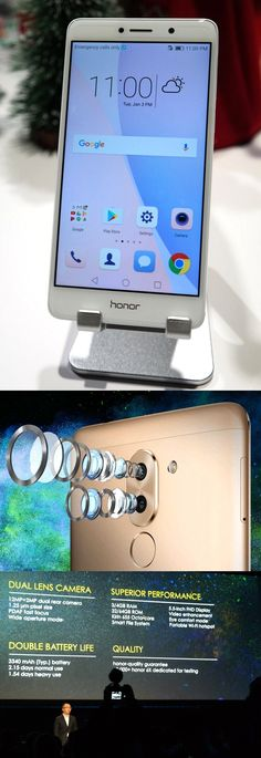 The Honor 6X Android smartphone launched at #CES2017 by @HuaweiDeviceUSA has a nice price ($249 w/32GB RAM; $299 w/64GB) for a raft of cool camera, battery and case features. The aperture of its 12MP/2MP dual lens rear camera adjusts from F/0.95 to F/16, thus letting users focus on an image's full depth or just a slice. Users can also change the focus point after a pic is snapped. The unit has a 5.5-inch full HD display, a two-day battery and a fingerprint reader. #PaperPCPicksatCES…