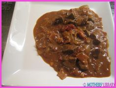 Casserole of liver and apples - http://www.motherslibrary.com/casserole-liver-apples/