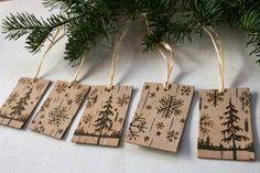 Rustic Birch Gift Tags Winter Wonderland Set by TwigsandBlossoms