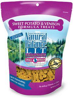 Natural Balance L.I.T. Limited Ingredient Treats Sweet Potato & Venison Formula Dog Treats GRAIN FREE 4.99 SMALL