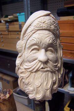 Image result for wood carved santa busts
