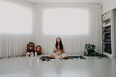 Beautiful Western Australian yoga studio You via Yoga created using eco friendly yoga props by Mandala Living and Sydney Yoga Collective. Photo by Jessi Simpson, BloomPress. Yoga Bolster, Yoga Props, Meditation Cushion, Home Health, Health And Wellbeing, Home And Living, Sydney, Eco Friendly, Mandala