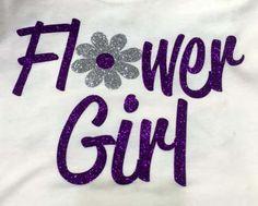 Flower girl custom white shirt. Make your engagement and wedding custom with Bling N Ink.