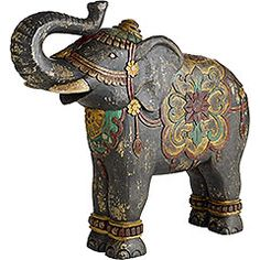 You can use elephant statues for centerpieces...they also serve as good door prizes!