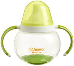 Amazon.com: Lansinoh mOmma Spill Proof Cup with Dual Handles, Green: Baby