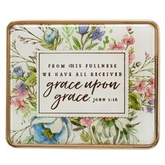 Express your faith with gifts such as this Visor Clip: Grace Upon Grace - John only at Christian Art Gifts. Grace Verses, Word Of Grace, Christian Art Gifts, Christian Women, Fathers Love, Tin Gifts, Watercolor Design, Uplifting Quotes, Christian Inspiration