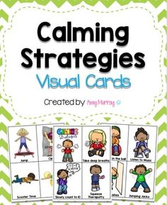 These cards provide visuals for students who need assistance calming down.  They would be great for students who are quick to become frustrated or upset.  These cards provide visual supports for options/choices of strategies to use to calm down. Most visuals are available in both color and black & white.
